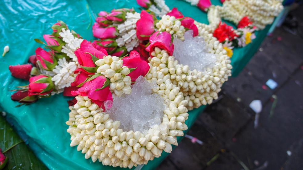 Pak Klong Talad- targ kwiatów w Bangkoku