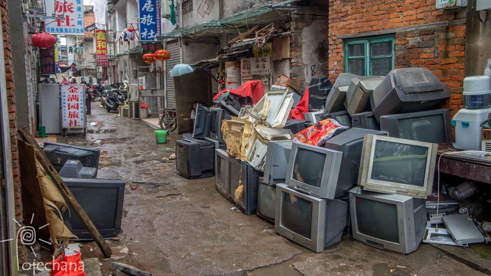 boczna uliczka w Chinach