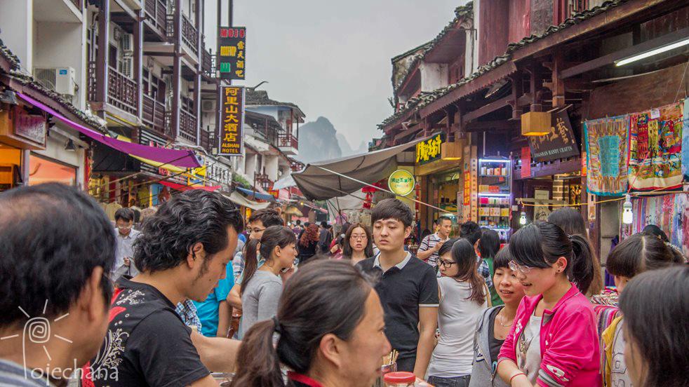 tłumy w Chinach