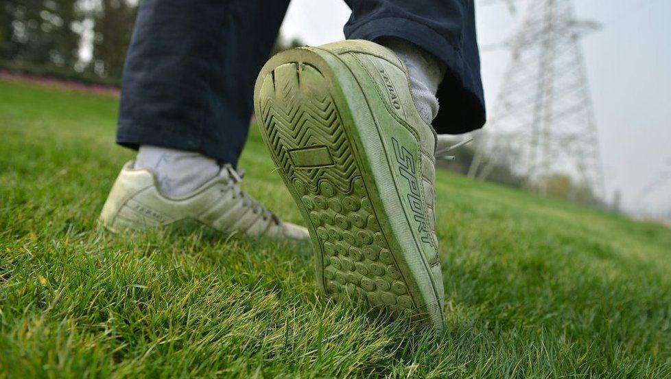 Chiny malują trawę na zielono