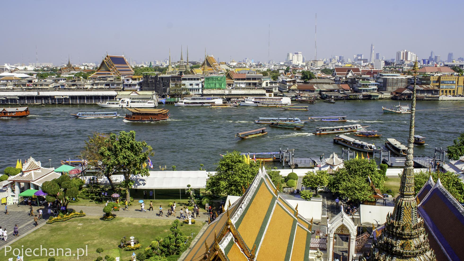 widok z Wat Arun