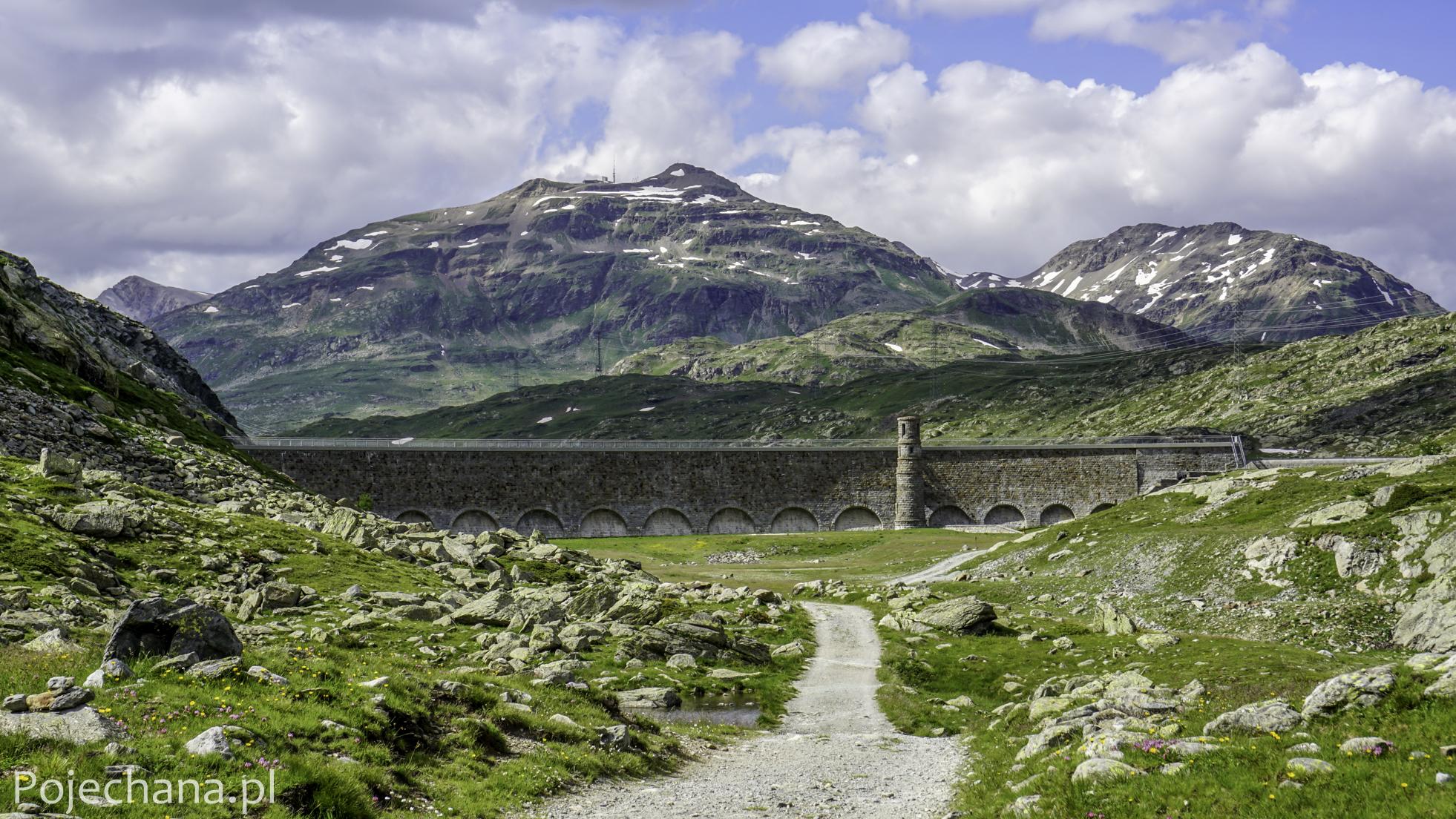 tama na tle alpejskich szczytów