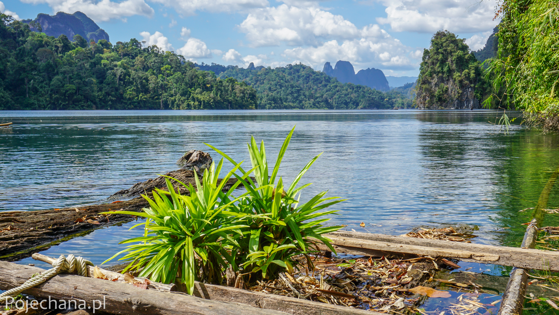widok na jezioro Cheow Lan